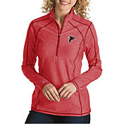 Antigua Women's Atlanta Falcons Tempo Red Quarter-Zip Pullover