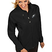 Antigua Women's Philadelphia Eagles Discover Full-Zip Black Jacket