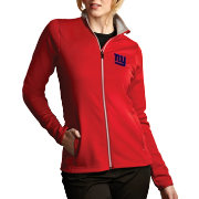 Antigua Women's New York Giants Leader Full-Zip Red Jacket