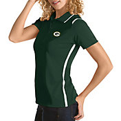 Antigua Women's Green Bay Packers Merit Green Xtra-Lite Pique Polo