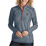 Antigua Women's New England Patriots Tempo Navy Quarter-Zip Pullover