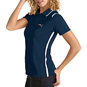 Antigua Women's New England Patriots Merit Navy Xtra-Lite Pique Polo