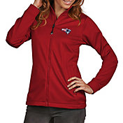 Antigua Women's New England Patriots Quick Snap Logo Red Golf Jacket