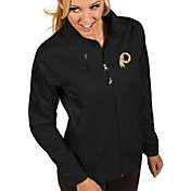 Antigua Women's Washington Redskins Discover Full-Zip Black Jacket