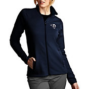Antigua Women's Los Angeles Rams Leader Full-Zip Navy Jacket