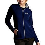 Antigua Women's Seattle Seahawks Leader Full-Zip Navy Jacket