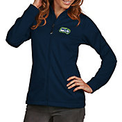 Antigua Women's Seattle Seahawks Quick Snap Logo Navy Golf Jacket