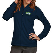 Antigua Women's Seattle Seahawks Quick Snap Logo Navy Golf Jacket