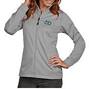 Antigua Women's Seattle Seahawks Quick Snap Logo Silver Golf Jacket