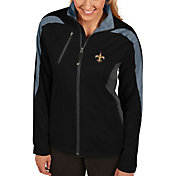 Antigua Women's New Orleans Saints Discover Full-Zip Black Jacket