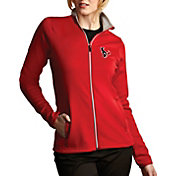 Antigua Women's Houston Texans Leader Full-Zip Red Jacket