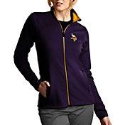 Antigua Women's Minnesota Vikings Leader Full-Zip Purple Jacket