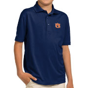Antigua Youth Auburn Tigers Blue Pique Polo