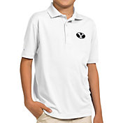 Antigua Youth BYU Cougars White Pique Polo