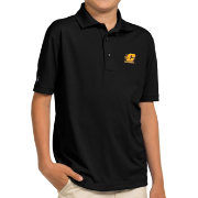 Antigua Youth Central Michigan Chippewas Black Pique Polo