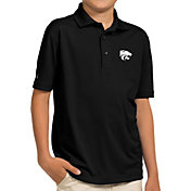 Antigua Youth Kansas State Wildcats Black Pique Polo