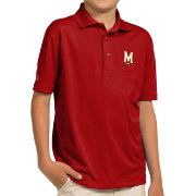 Antigua Youth Maryland Terrapins Red Pique Polo