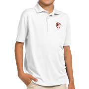 Antigua Youth Indiana Hoosiers White Pique Polo