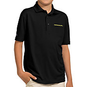 Antigua Youth Oregon Ducks Black Pique Polo