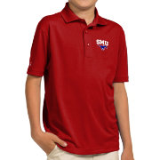 Antigua Youth Southern Methodist Mustangs Red Pique Polo