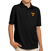 Antigua Youth Tennessee Volunteers Black Pique Polo