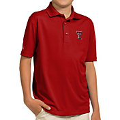 Antigua Youth Texas Tech Red Raiders Red Pique Polo