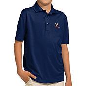 Antigua Youth Virginia Cavaliers Blue Pique Polo