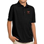 Antigua Youth Virginia Tech Hokies Black Pique Polo