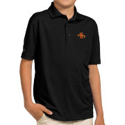 Antigua Youth Iowa State Cyclones Black Pique Polo