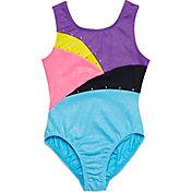 Jacques Moret Girls' Foil Splash Colorblocked Leotard