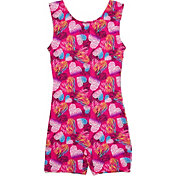Jacques Moret Girls' Wilderness Hearts Printed Biketard