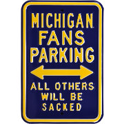Authentic Street Signs Michigan Wolverines Parking Sign