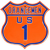 Authentic Street Signs Syracuse Orange Route Sign