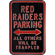 Authentic Street Signs Texas Tech Red Raiders Parking Sign
