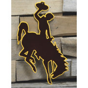 Authentic Street Signs Wyoming Cowboys Steel Logo Sign