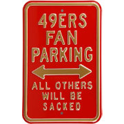 Authentic Street Signs San Francisco 49ers Parking Sign