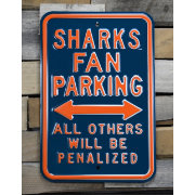 Authentic Street Signs San Jose Sharks Parking Sign