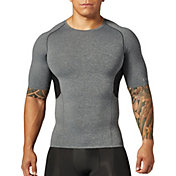 SECOND SKIN Men's QUATROFLX Heather Short Sleeve Compression Top