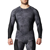 SECOND SKIN Men's QUATROFLX Novelty Compression Long Sleeve Top