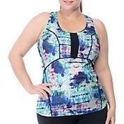 Rainbeau Curves Women's Plus Size Brie Print Tank Top