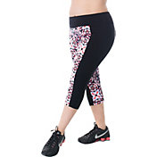 Rainbeau Curves Women's Plus Size Printed Joan Capris Leggings
