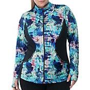 Rainbeau Curves Women's Plus Size Marisa Print Zip-Up Jacket