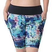 Rainbeau Curves Women's Plus Size Vivien Print Bike Shorts