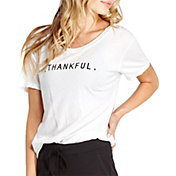 good hYOUman Women's Coco Thankful Graphic T-Shirt