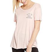 good hYOUman Women's Dakota Here to Make Friends T-Shirt