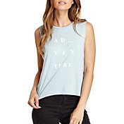 good hYOUman Women's Lili Adventure Graphic Cropped Muscle Tank Top