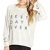 good hYOUman Women's Smith Best Day Ever Graphic Crewneck Sweatshirt