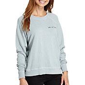 good hYOUman Women's Smith All Smiles Graphic Crewneck Sweatshirt