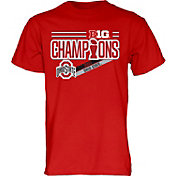 Blue 84 Men's Ohio State Buckeyes Scarlet 2017 Big Ten Football Champions Locker Room T-Shirt