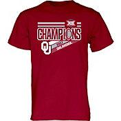 Blue 84 Men's Oklahoma Sooners Crimson 2017 Big 12 Football Champions Locker Room T-Shirt